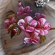 """Украшения ручной работы. Ярмарка Мастеров - ручная работа Кулон """"Яблоня в цвету"""". Handmade."""