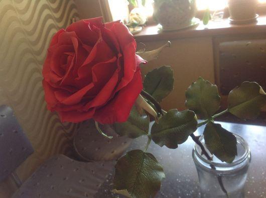 Цветы ручной работы. Ярмарка Мастеров - ручная работа. Купить Роза. Handmade. Бордовый, роза, полимерная глина