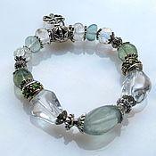 Украшения handmade. Livemaster - original item Bracelet with green fluorite. Handmade.