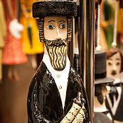 """Куклы и игрушки ручной работы. Ярмарка Мастеров - ручная работа Кукла-колокольчик """"Ортодоксальный еврей (с супругой)"""". Handmade."""