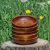 Посуда handmade. Livemaster - original item Pine Wooden Plates (5#11. Handmade.