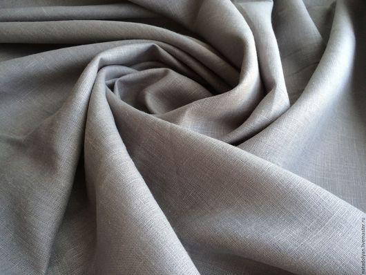 """Шитье ручной работы. Ярмарка Мастеров - ручная работа. Купить Лен костюмный 100% """" Серый ,стальной"""" ОСТАТОК 1,2м. Handmade."""