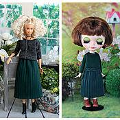 Одежда для кукол ручной работы. Ярмарка Мастеров - ручная работа Кофточка и плиссированная юбочка для Блайз, Барби и кукол 30 см. Handmade.