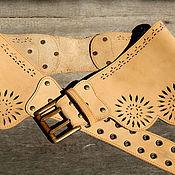 Straps handmade. Livemaster - original item Belt made of genuine leather (nubuck). Handmade.