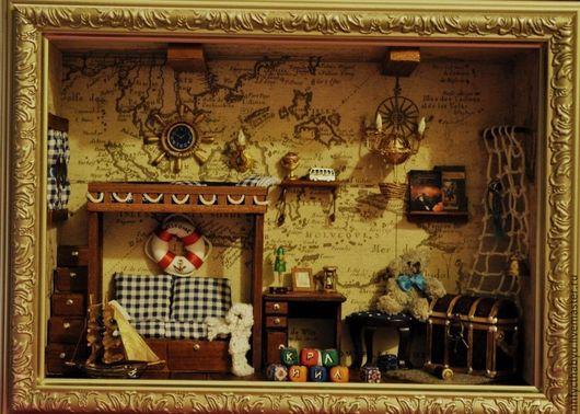 Персональные подарки ручной работы. Ярмарка Мастеров - ручная работа. Купить Детская морская мини-комната. Handmade. Эксклюзивный подарок