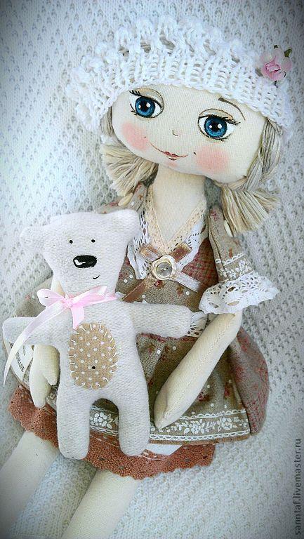 Коллекционные куклы ручной работы. Ярмарка Мастеров - ручная работа. Купить Кукла Леля. Handmade. Бежевый, кукла интерьерная, хлопок