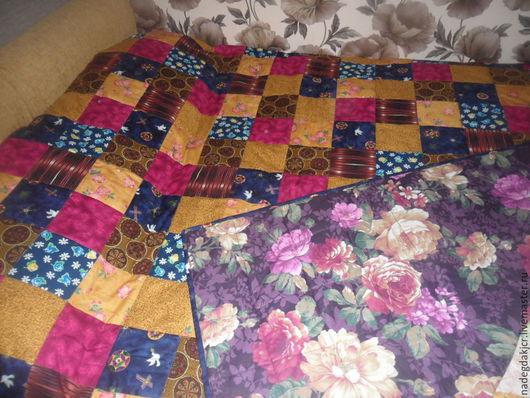 Текстиль, ковры ручной работы. Ярмарка Мастеров - ручная работа. Купить покрывало плед. Handmade. Разноцветный, покрывало, хлопок россия