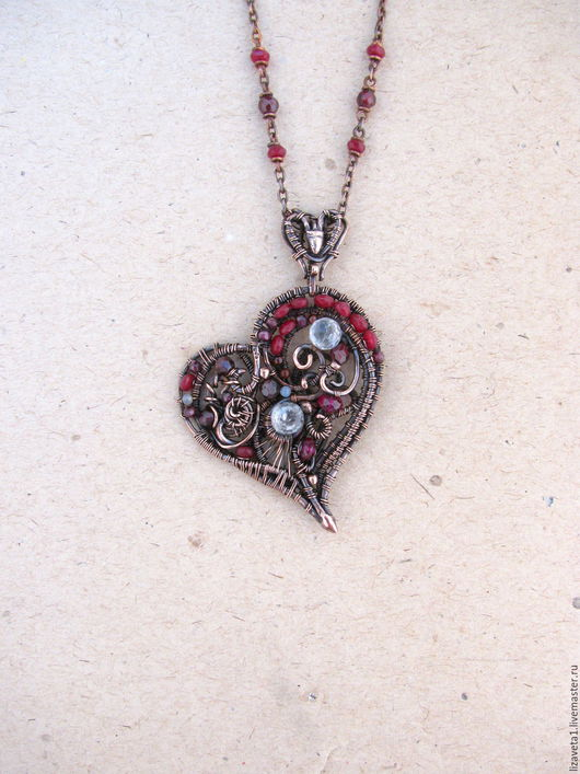 """Кулоны, подвески ручной работы. Ярмарка Мастеров - ручная работа. Купить Кулон """" Сердце, сердце ..."""". Handmade."""