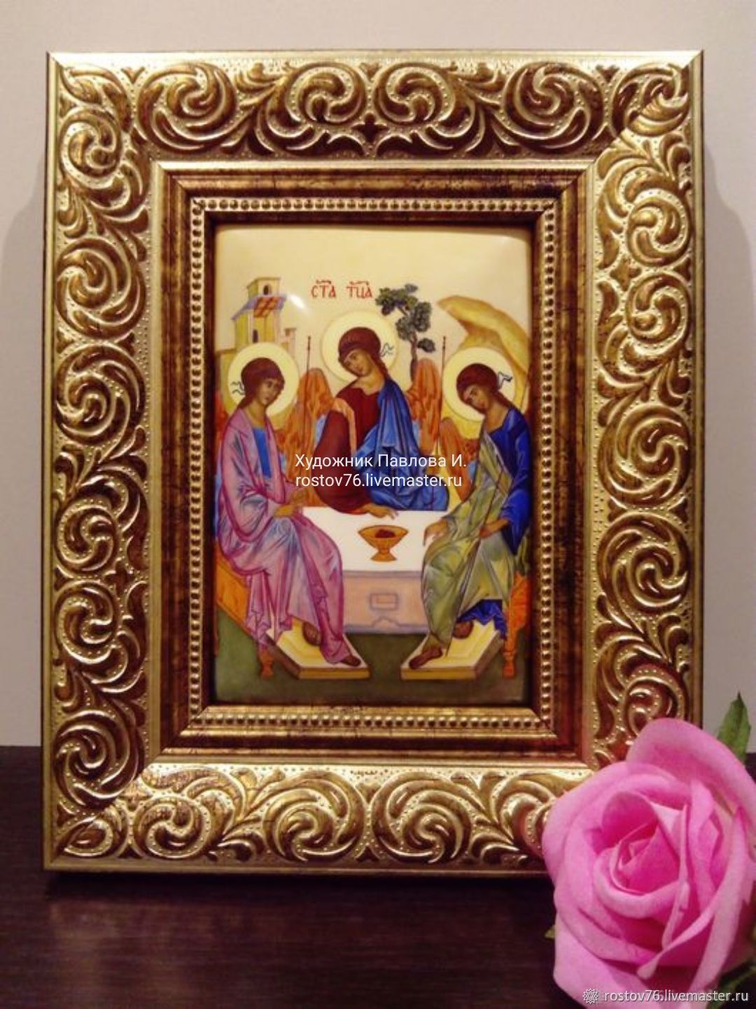 """Икона,, Святая Троица """" финифть, Иконы, Ярославль,  Фото №1"""