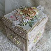 """Открытки ручной работы. Ярмарка Мастеров - ручная работа Открытка -коробочка с сюрпризом """" Нежные цветы"""". Handmade."""