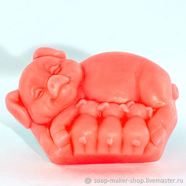 Silicone soap mold ' Pigs 2D», Form, Shahty,  Фото №1