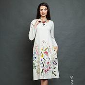 """Одежда ручной работы. Ярмарка Мастеров - ручная работа Вышитое платье """"Цветочная поляна"""" вышивка гладью. Handmade."""