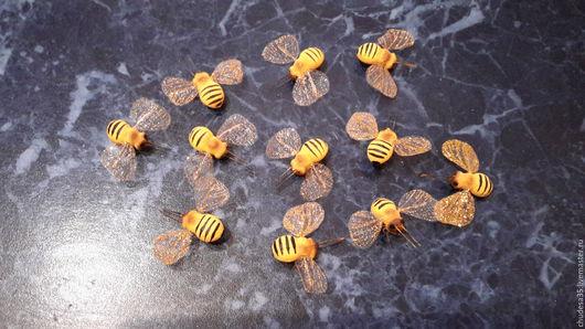 Материалы для флористики ручной работы. Ярмарка Мастеров - ручная работа. Купить Декоративная пчёлка. Handmade. Комбинированный, пчелка, пчелы