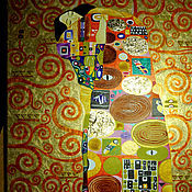 Pictures handmade. Livemaster - original item Picture The Ecstasy. Detail of the painting Tree of life by Gustav Klimt. Handmade.