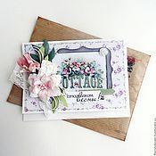 Открытки handmade. Livemaster - original item Postcard to March 8. Handmade.