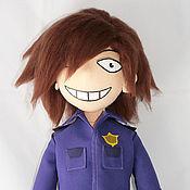Куклы и игрушки ручной работы. Ярмарка Мастеров - ручная работа Фиолетовый парень игрушка по рисунку. Handmade.