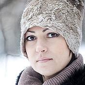 Аксессуары handmade. Livemaster - original item Felt winter hat based on