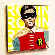 Картины и панно handmade. Livemaster - original item Picture Poster of Robin (DC Comics) in the style of Pop Art. Handmade.