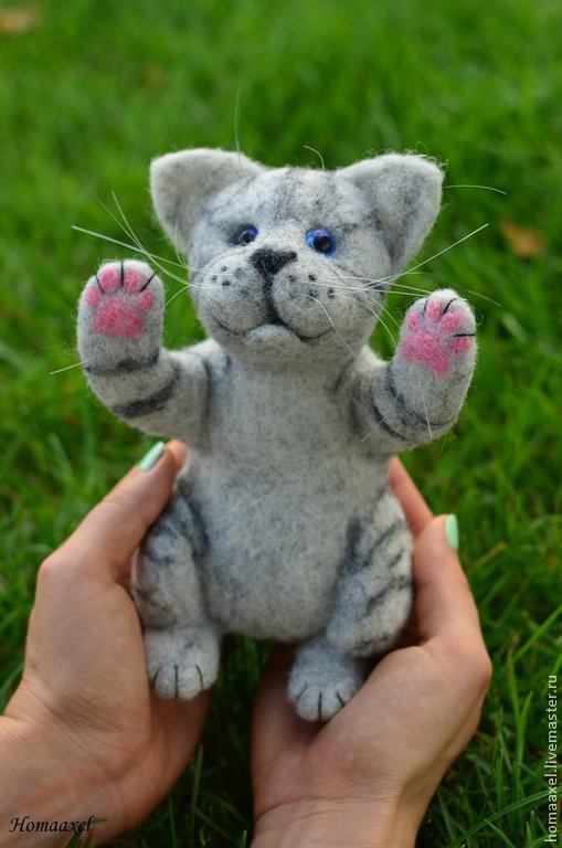 Felt Kitty, Felted Toy, Heidelberg,  Фото №1