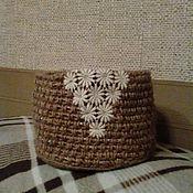 Для дома и интерьера ручной работы. Ярмарка Мастеров - ручная работа Интерьерная корзиночка. Handmade.