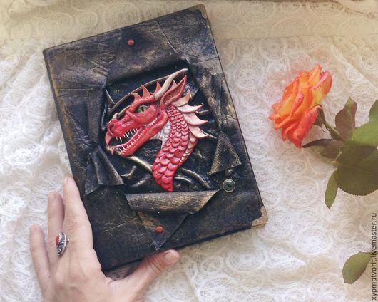 Блокноты ручной работы. Ярмарка Мастеров - ручная работа. Купить Блокнот с драконом. Handmade. Черный, китайский дракон, записная книга