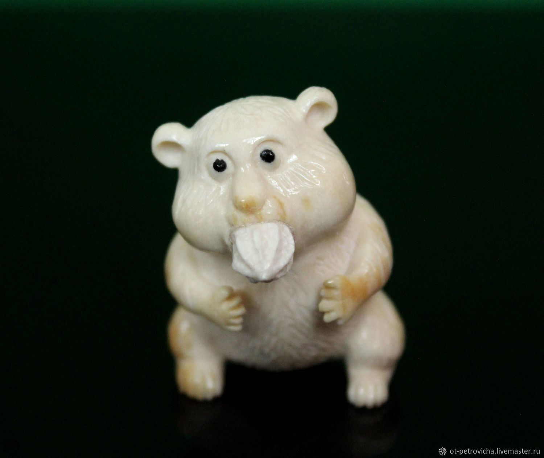 Carved bone.' Funny little animal', Figurines, Kamen-na-Obi,  Фото №1
