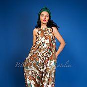 Одежда ручной работы. Ярмарка Мастеров - ручная работа Платье из шелка 00253. Handmade.
