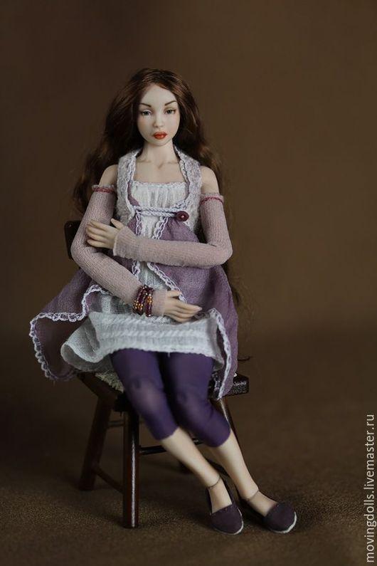 Коллекционные куклы ручной работы. Ярмарка Мастеров - ручная работа. Купить Шарнирная фарфоровая кукла Оливия-2. Фарфор ,15,5 см. Миниатюра 1/12. Handmade.
