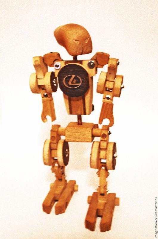 Развивающие игрушки ручной работы. Ярмарка Мастеров - ручная работа. Купить Деревянная игрушка.Робот трансформер-конструктор. Handmade. Робот
