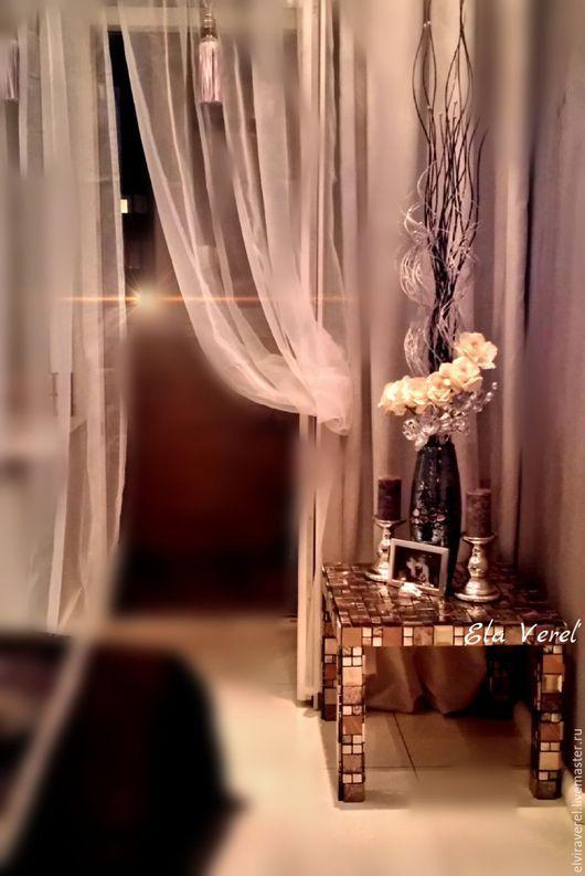 """Мебель ручной работы. Ярмарка Мастеров - ручная работа. Купить Интерьерный столик"""" ЭЛЕГИЯ ''. Handmade. Комбинированный, мозаика, лофт"""