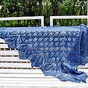 Аксессуары handmade. Livemaster - original item Shawl blue tracery of Haruni. Handmade.