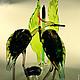 Статуэтки ручной работы. Интерьерная композиция из цветного стекла Молчаливые Цапли. Мастерская Animals in Glass. Ярмарка Мастеров. Традиции