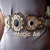 Пояса ручной работы. Ярмарка Мастеров - ручная работа Пояс принцессы из сутажа. Handmade.