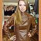 Верхняя одежда ручной работы. Кожаная куртка-косуха со стегаными фрагментами. Валова Наталия. Интернет-магазин Ярмарка Мастеров.
