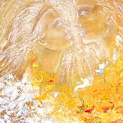 Картины и панно ручной работы. Ярмарка Мастеров - ручная работа Картина маслом В твоих глазах весь мир...влюбленные. Handmade.