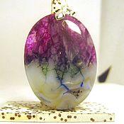 Украшения handmade. Livemaster - original item Gorgeous oval pendant of agate geodes with friends. Handmade.