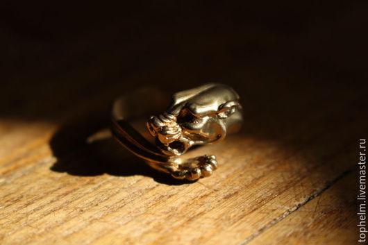 Кольца ручной работы. Ярмарка Мастеров - ручная работа. Купить Кольцо Пантера. Handmade. Бронзовое кольцо, тигр, Ягуар, желтый