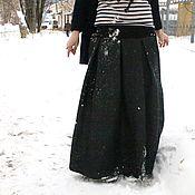 Одежда ручной работы. Ярмарка Мастеров - ручная работа Юбочка из джинсы с начесом, теплая и удобная. Handmade.