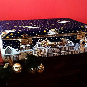 """Чемодан ручной работы. Ярмарка Мастеров - ручная работа Чемодан """"Рождество"""" для новогодних игрушек. Handmade."""