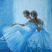 Картины ручной работы. Ярмарка Мастеров - ручная работа Две балерины у окна. Handmade.