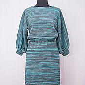 Одежда ручной работы. Ярмарка Мастеров - ручная работа Вязаное платье Меланж. Handmade.