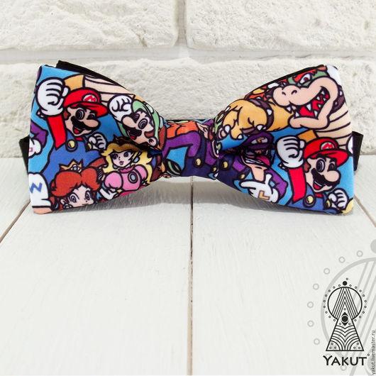 Галстуки, бабочки ручной работы. Ярмарка Мастеров - ручная работа. Купить Галстук бабочка Марио Нинтендо / бабочка-галстук гику - геймеру. Handmade.