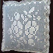 Для дома и интерьера handmade. Livemaster - original item pillow case crochet Roses. Handmade.