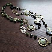 Beads2 handmade. Livemaster - original item Beads: 157 cm Long necklace made of stone.. Handmade.