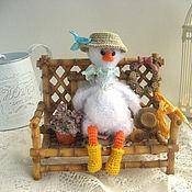 Куклы и игрушки handmade. Livemaster - original item Gavryusha gosling with a butterfly net. Handmade.
