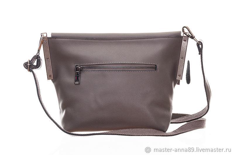 Купить Женская кожаная серая сумка · Женские сумки ручной работы. Женская  кожаная серая сумка М091. Ателье Анны. Интернет- ... 0440ebffcf5