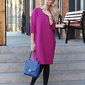 Одежда handmade. Livemaster - original item Dress made of thick Jersey Jersey Gorgeous fuchsia. Handmade.