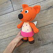 Мягкие игрушки ручной работы. Ярмарка Мастеров - ручная работа Мимимишки Лисичка, вязаная лиса, игрушки ручной работы. Handmade.