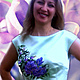 """Платья ручной работы. Платье """"Розы"""".. Индивидуальная вышиваночка. (oksanetta). Интернет-магазин Ярмарка Мастеров. Цветочный, салатовый атлас"""