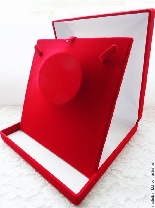 Упаковка ручной работы. Ярмарка Мастеров - ручная работа. Купить Футляр для украшений Красный Квадрат. Handmade. Ярко-красный